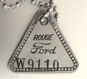 Uncommon Tool Check Tag: FORD ROUGE TOOL & DIE; WWII Era Steel