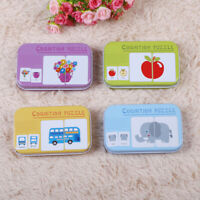 Preschool Cognitive Learning Iron Box Puzzle Cards Baby Kids Educational Toy