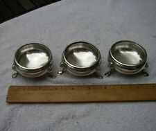 Set 3 ENGLISH Sterling MASTER SALT CELLARS-CRICHTON & CO-London 1931-32