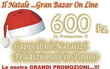 600 CAPPELLO BABBO NATALE TRADIZIONALE Panno Lenci STOCK FESTA PARTY ANIMAZIONE