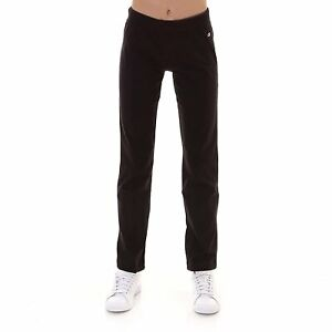 Pantalone donna cotone Champion DRAWSTRING PANTS dritto 110845-KK001 Nero
