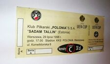 used ticket POLONIA Warsaw - SADAM Tallinn 29.07.1998