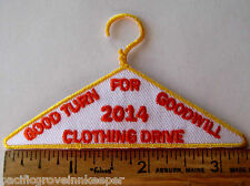 Girl Scout 2014 CLOTHING DRIVE Good Turn For Goodwill Clothes Hanger Badge