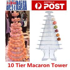 10 Tier Macaron Tower Macaroon Tower Round Mini Macaron Tower Display Stand Rack