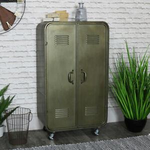 metal grey/silver locker industrial vintage style cabinet storage holder office