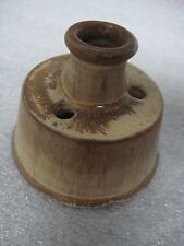1950s Old Sturbridge Village Pottery Inkwell Quill Fountain Pen holder Redware