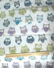 Owl Print Curtain/Upholstery Fabric - 52cm x 150cm + Offcuts