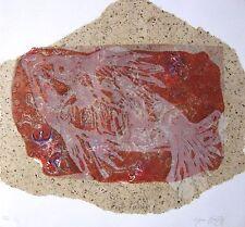 """LYNN KEATING AUSTRALIAN WOODBLOCK """"FISH FOSSIL"""" 1999"""