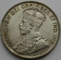 1917-C Canada - Newfoundland Silver 50 Cents - AU+