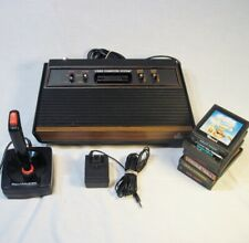 Vtg Atari 2600 VCS WOODY Console 4 Switch WORKS w/ 6 Games Controller AC Adapter