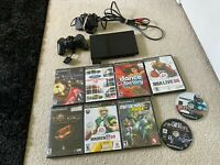 PlayStation 2 Slim Bundle Controller Memory Card 9 Games Component Cables