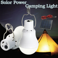 Solar Panel Powered 15w LED Bulb Light Portable Camping Outdoor Tent Energy Lamp