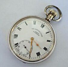 More details for gent's antique the norfolk lever silver dennison cased mechanical pocket watch
