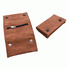 SOFT BROWN LEATHER DESIGN TOBACCO POUCH - Compact & Stylish - Same Day Despatch