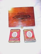 2 PRINCE ALBERT PIPE TOBACCO CANS & 1 WOOD CIGAR BOX SANCHO PANZA CIGARS 3 ITEMS