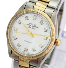 Rolex Oyster Perpetual Airking 5500 White MOP Diamond Dial Oyster
