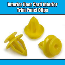 10x Clips For VW Transporter T4 Sharan Plastic Yellow Door Trim Panel Retainer