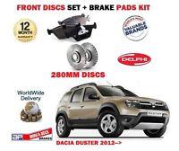 Per Dacia Duster 1.2 1.6 1.5D 2012> Nuovo Freno Anteriore 280mm Dischi Set +