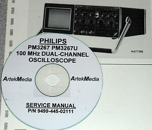 Philips PM3267 PM3267U Oscilloscope Service Manual