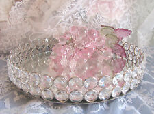 Round  VANITY TRAY Austrian Crystal mirror Dresser shabby and chic GReAT GIFT