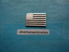 UNITED STATES FLAG 4TH US FLAG ADDING ILLINOIS MINI SILVER BAR RARE