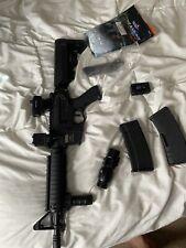 Lancer Tactical LT-04T M4A1 AEG Full Semi Auto RIS Tan Metal Gear Airsoft Rifle#
