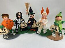 5 Annalee Dolls Halloween Trick or Treat Kids Witch Skeleton Dragon Bunny Rare