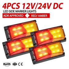 4x LED Clearance Lights RED AMBER Side Marker Indicator Trailer Truck 12V 24V