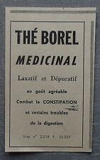 Publicité THE BOREL DEPURATIF LAXATIF  advert 1960