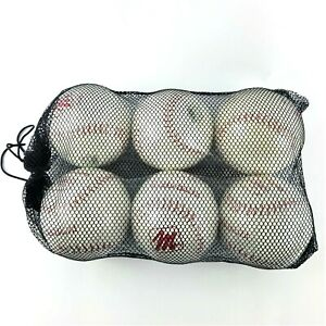 Lot of 6 MacGregor Red Hawk Softball #92446 Parahyde Cover Solid State Core NIP