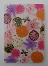 x Abstract floral BRIGHTEST WISHES 80pg notebook travel journal poetry book