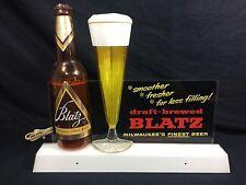 Blatz Beer Lighted Bubbler Motion Sign Back Bar Man Cave