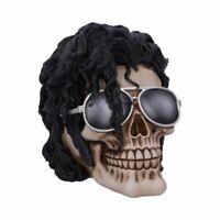 BAD 16.5cm Michael Jackson Skull Gothic Macabre Figurine Nemesis Now FREE P+P