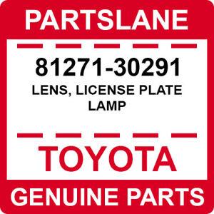 81271-30291 Toyota OEM Genuine LENS, LICENSE PLATE LAMP