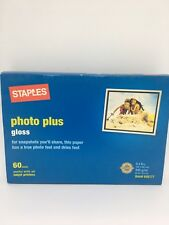 NEW  Staples 4 x 6 60 sheets Glossy Photo Plus Paper