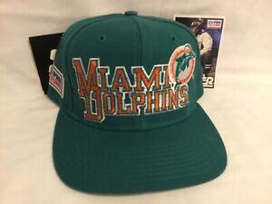 90's VTG * STARTER PROLINE MIAMI DOLPHINS 100% Wool SnapBack Hat *  NWT