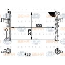 Kühler Motorkühlung - Hella 8MK 376 710-314
