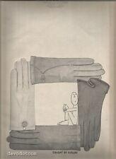 60's  Saul Steinberg Illustrated Kislav Glove Advertisement 1960