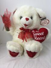 Sweetheart Dan Dee Teddy bear, 2000, PLUSH  BE My SWEETHEART PILLOW and Flower