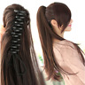 "15-26"" Claw Jaw Clip Ponytail Human Hair piece 100% Human Remy Hair Extension"