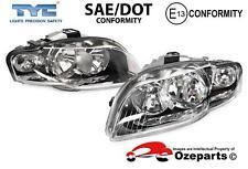 Set Pair LH+RH Head Light Lamp Non Xenon (Clear) For Audi S4 A4 B7 2004~2008