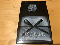 Jos. A. Bank Men's All Silk Lapel Clip & Pocket Square Blue NWT $39.50