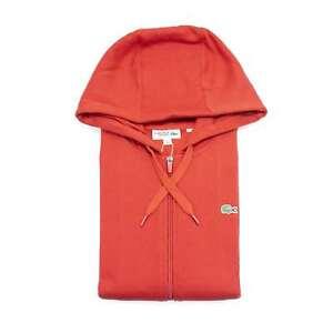 Lacoste Men's Sport Hooded Lightweight Bi-material Full Zip Sweatshirt