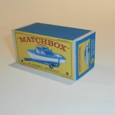 Matchbox Lesney  9 d Boat & Trailer empty Repro E style Box