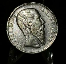 1866 Mexico 50 cents Mo Silver Empire of  Maximiliano GENUINE