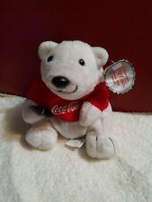 """Coca Cola Polar Bear Bean Bag Coke Bottle Vintage Plush 6"""""""