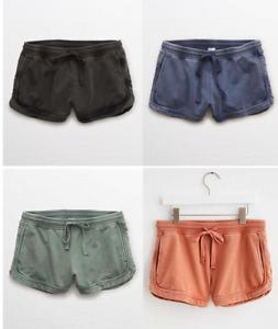 Aerie American Eagle Desert Sunwashed knit shorts pockets boho chic junior women