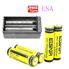 4pcs 18650 3.7V 9900mAh Li-ion Rechargeable Battery Cell For Torch+1pcs charger