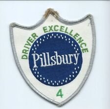 Pillsbury baking products co driver excellence (4) patch 4-1/8X3-1/2 #1209