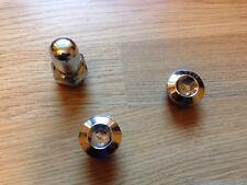 Lambretta chrome Oil Plug, Breather Nut and Magnetic Plug